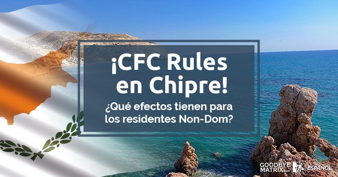 Nuevas CFC Rules en Chipre