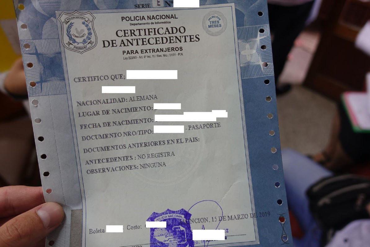 Requisitos para la solicitud de radicación